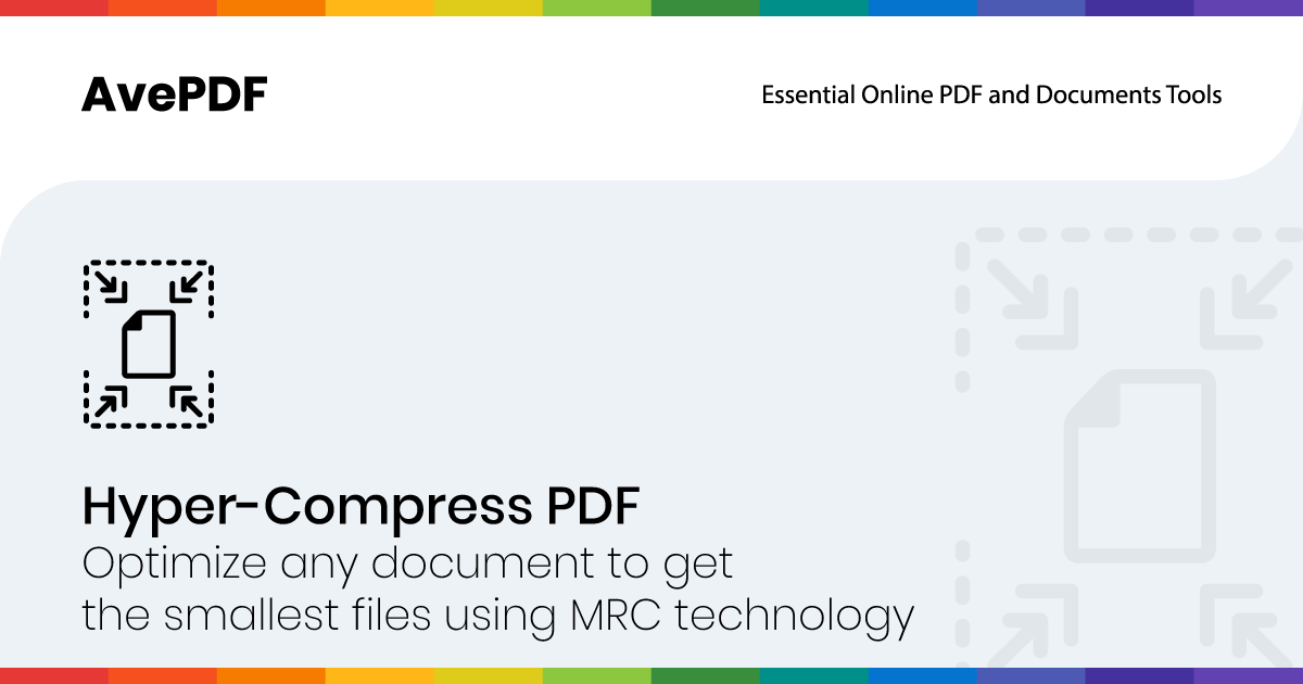 Hyper Compress And Optimize Your Pdfs With Avepdf Online Tools
