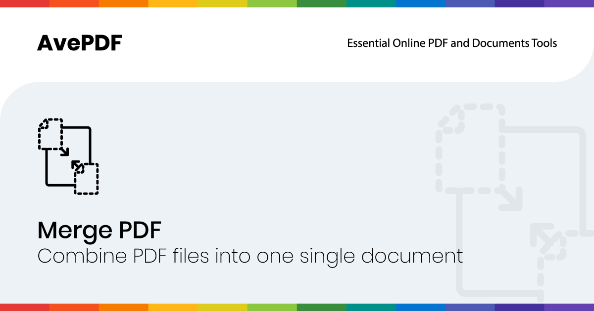 Merge your PDF Documents with AvePDF Online Tools